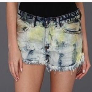 Free People Shorts - Free People Tie Dye Jean Shorts
